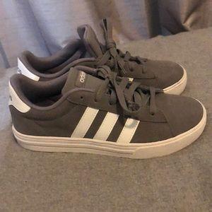 Grey adidas superstar